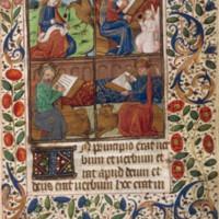 John writes on a scroll